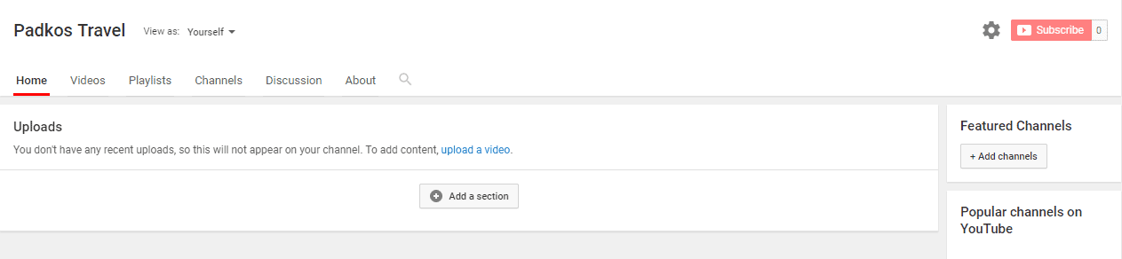How to set up your Youtube Channel