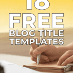 18 free blog title templates