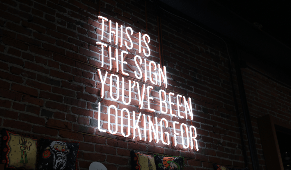 This is the sign you're looking for inspirational image