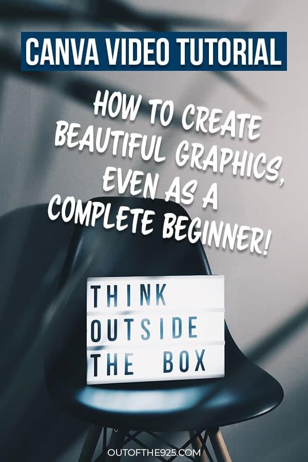 Canva video tutorial - Outofthe925.com