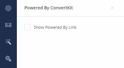 uncheck or check the box to show the powered by link