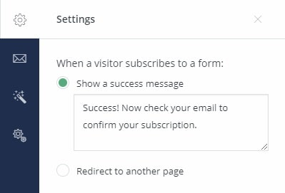Write a custom message to people that have subscribed to your list