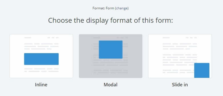 Pick a display format, let's go with Inline