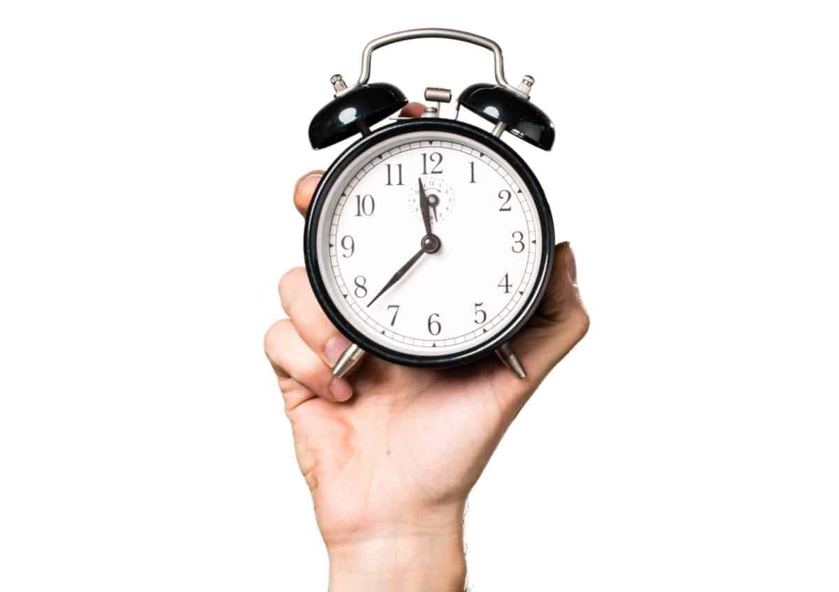Clock representing productivity