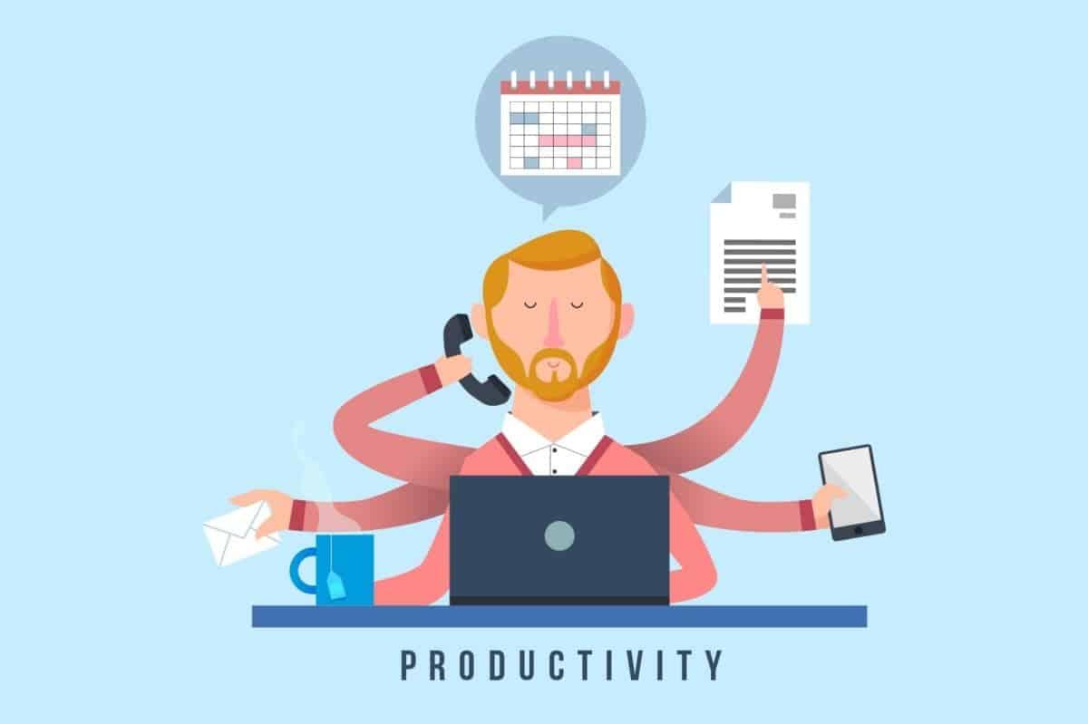 Business Productivity Cartoon