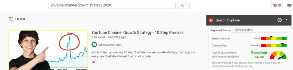 YouTube channel growth strategy 2020 example