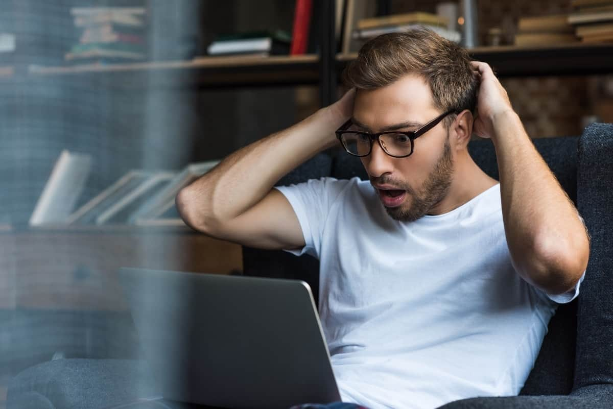 Man discovering easy it is to come up with YouTube Video Ideas for your business