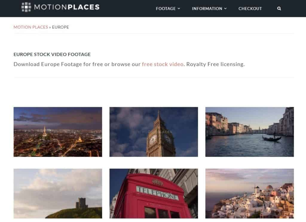 Motion Places - Free Video Stock Footage from around the world