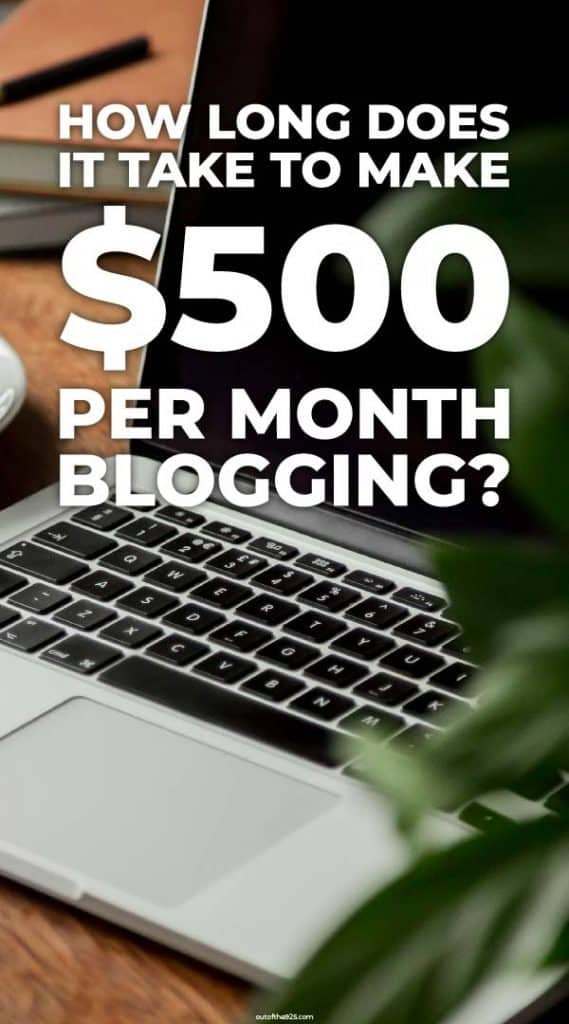 How long does it take to make $500 per month blogging?